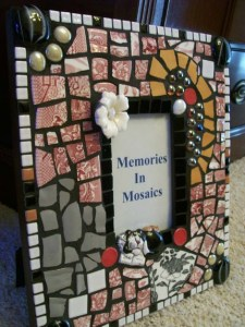 рамка для фотографии с мозаикой хенд-мейд