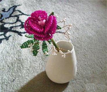роза из бисера мастер-класс