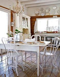 декорирование и дизайн интерьера кухни-столовой