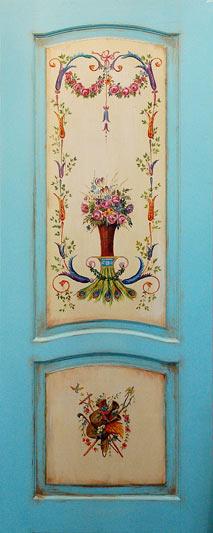 дверь голубая