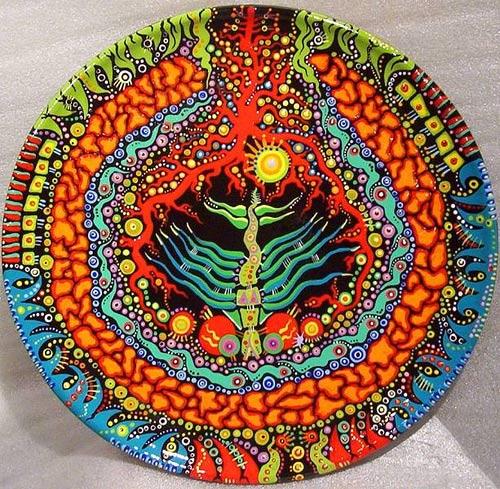 роспись акриловыми красками тарелок