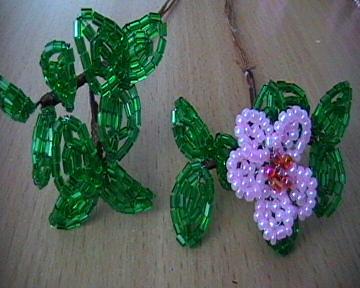 Заготовки цветов из бисера