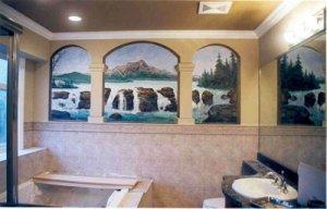 роспись стены ванной своими руками