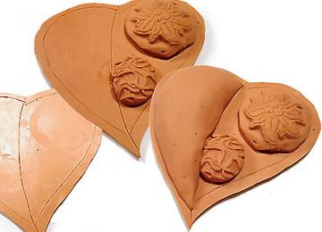 Сборка кулона сердечка из полимерной глины