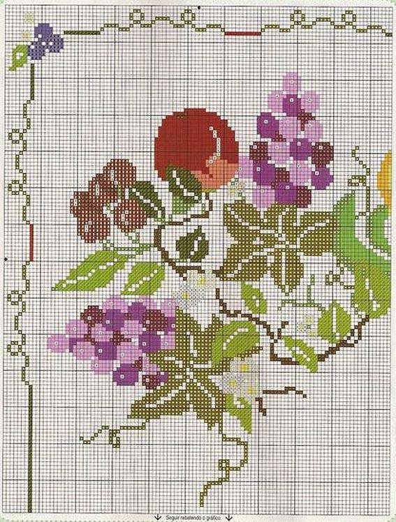 бесплатные схемы для вышивания фрукты виноград