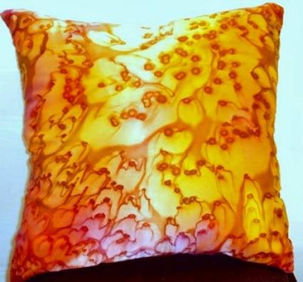 подушка из батика