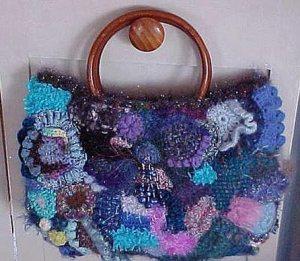 сумки крючком в стиле фриформ