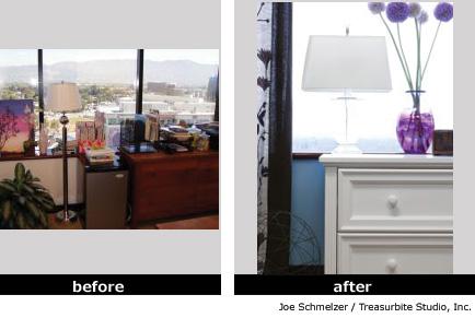 домашний офис до и после переделки
