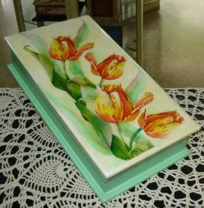 тюльпаны роспись акрилом