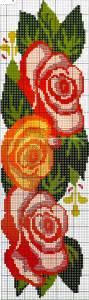 вышивание крестиком бесплатные схемы розы