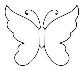 трафарет бабочки маленький