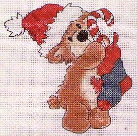 Схемы для вышивания на новый год - снеговики и деды морозы (1)