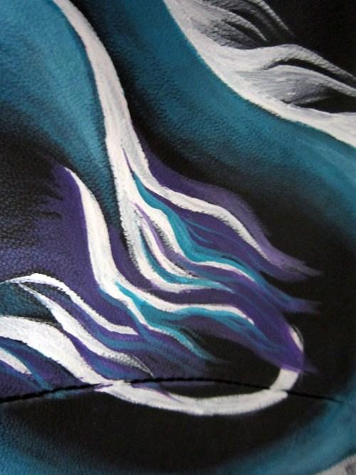 Роспись куртки акрилом - автор Shraddha (4)