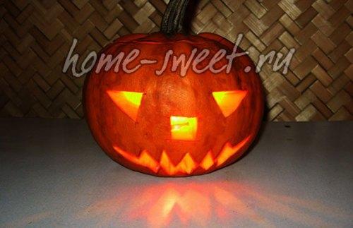 Светильник Джека - тыква на Хэллоуин
