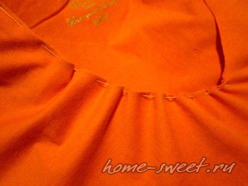 Кофточка для лета из футболки и цветной пряжи 4