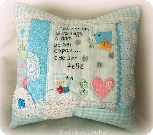 Идея подушки с сердечком