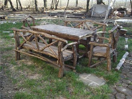Дачная скамейка и стол