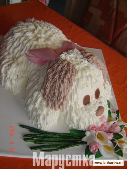 Вкусный торт Собачка