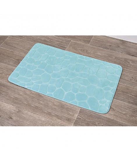 home zen tapis de bain a memoire de forme galet 50x80cm vert d eau