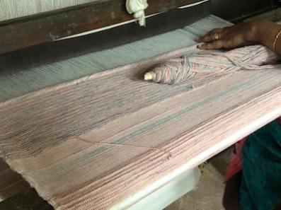 アーユルヴェーダ染め手織りヨガマット