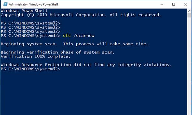 4. Run the System File Checker