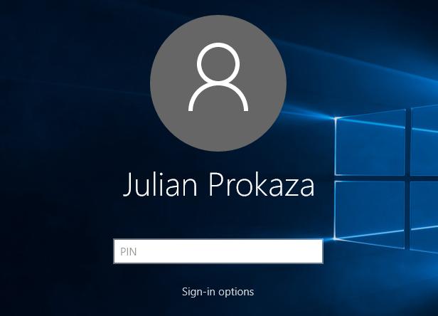 Windows 10 PIN