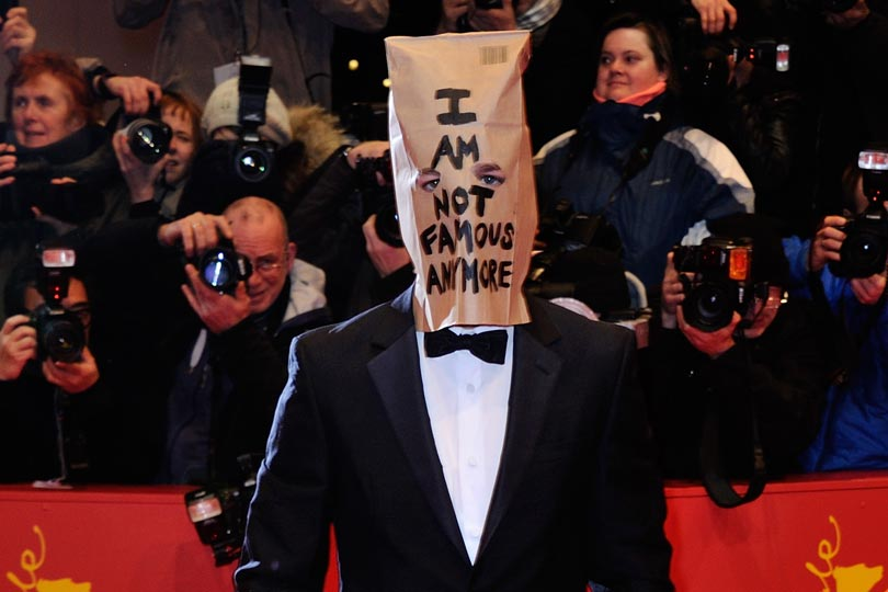 Image result for red carpet with a bag o n their head