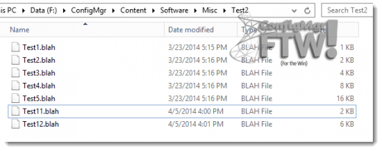 The source files for the second test package