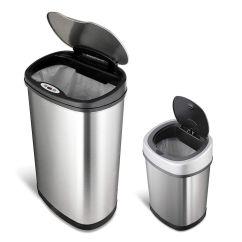 13 Gallon Kitchen Trash Can Lowes Tile Ninestars 全自动感应垃圾桶2件套海外省钱快报 中文版 包括13加仑和3加仑两个全自动感应垃圾桶 13加仑款是最常见的厨房用垃圾袋的尺寸 3加仑款非常适合办公室 卫生间使用 不锈钢超耐用材质 桶盖处带有红外感应 靠近时