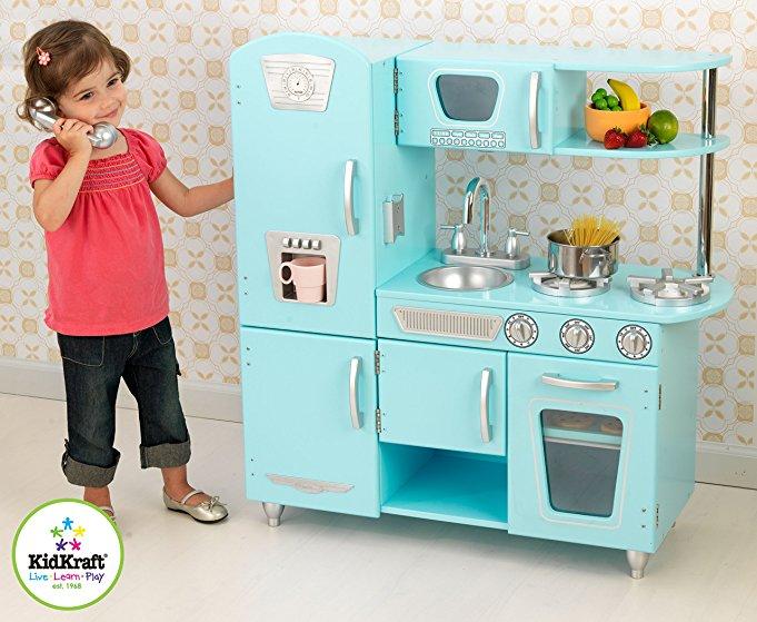 retro kids kitchen ikea pantry cabinets 节日好礼 儿童复古玩具厨房只要 97 99 海外省钱快报 中文版