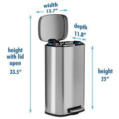 13 Gallon Kitchen Trash Can Copper Lighting 今日特价 8加仑不锈钢垃圾桶 66 99 海外省钱快报 中文版 坚固的踏板 只要很小的力就能打开盖子可拆卸的内桶使得垃圾容易且无污染方便携带在背面