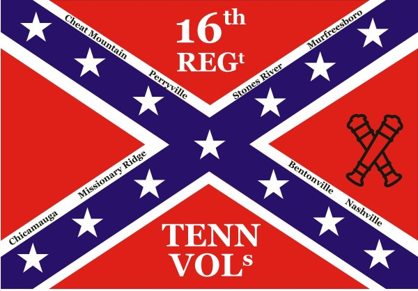 16th Tennessee Volunteer Infantry Regiment Battle Flags
