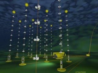 illustratie van neutrinotelescoop ANTARES