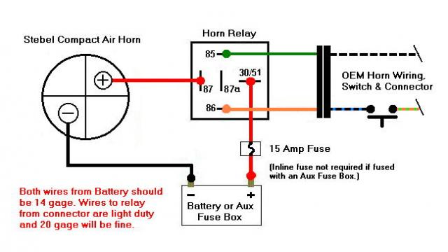 air horn wiring diagram with relay single switch light stebel schematic manual e books electra glide lowers