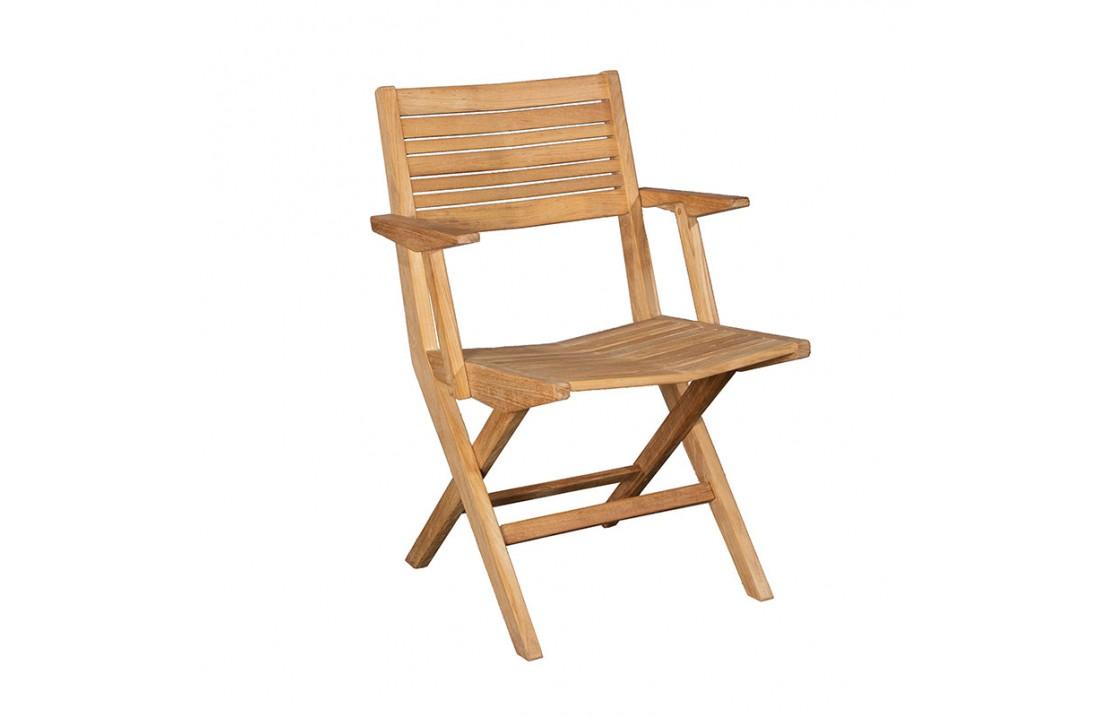 Sedia da giardino pieghevole in batyline® con braccioli maxim | sedia pieghevole. Sedia Pieghevole Da Esterno In Legno Con Braccioli Flip