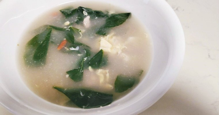 Recipe: Egg Drop Soup with Boxthorn Leaves / Wolfberry Leaves / Gau Gei Choi