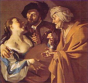 Dirck van Baburen (ca 1590-1624) The procuress