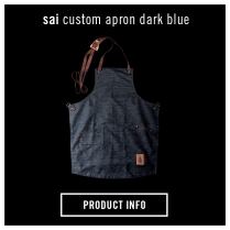 La Marzocco Home Saint Anthony Industries Apron Dark Blue
