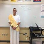 Cody Thatcher dressed up as Caesar
