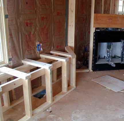 Doug Robinson House framing first floor rooms