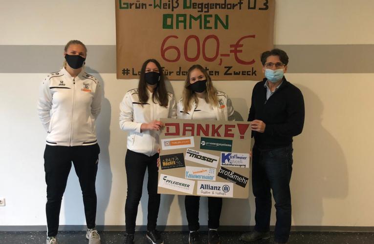 Laufen für den Guten Zweck – Deggendorfer Fussball-Damen sammeln 3000 €