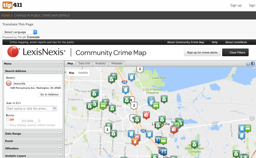 Community Crime Map