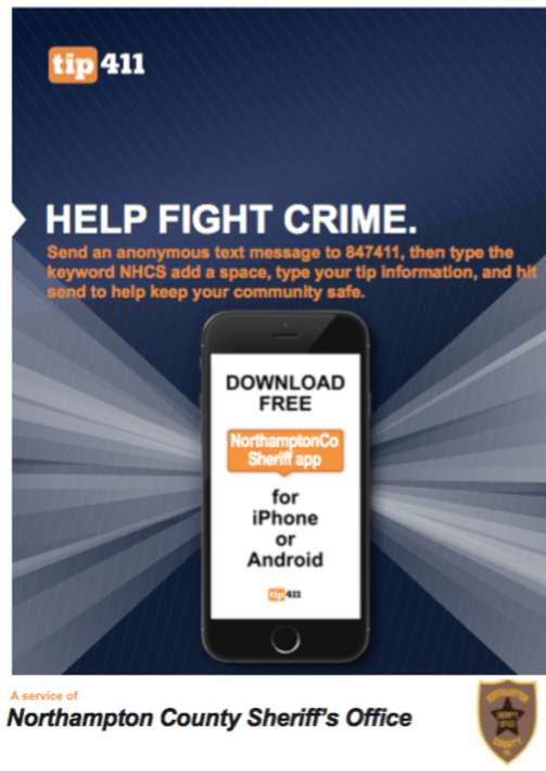 tip411 Northampton crime alerts and tips