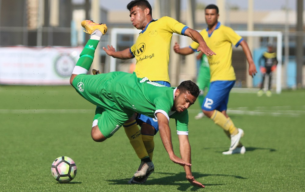 مباراة لفريق شباب جباليا في غزة
