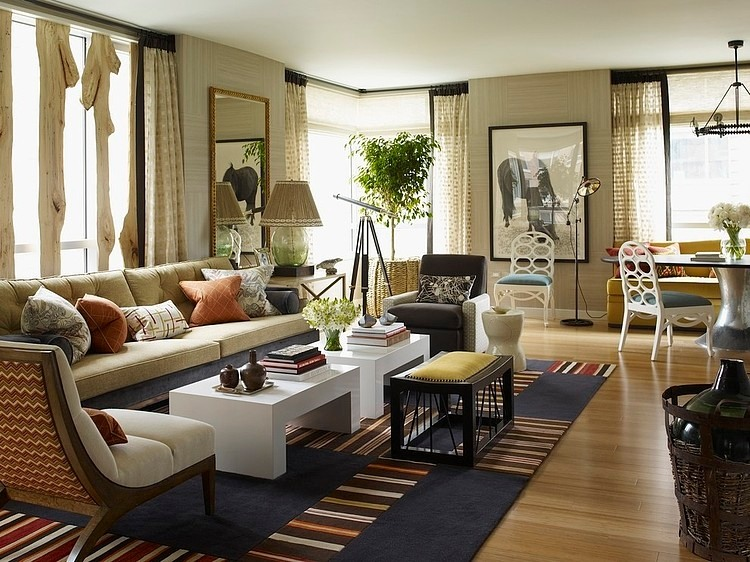 how to arrange furniture in a long narrow living room modern design riverhouse by thom filicia « homeadore
