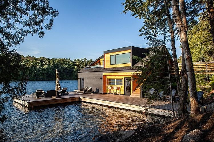 Lake Joseph Boathouse By Altius Architecture Homeadore