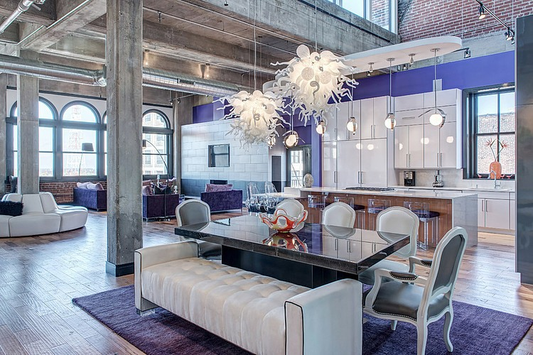 Downtown Penthouse Loft by SK Interiors  HomeAdore