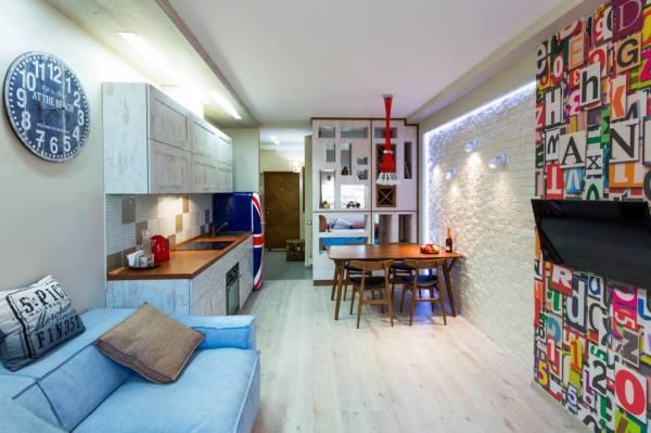 Tiny Apartment In Kiev Art Studio Homeadore