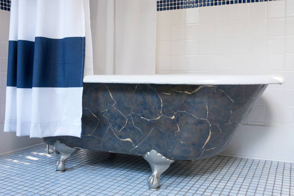 shower curtain for clawfoot tub top