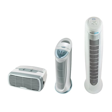 Photo of air purifiers ranging in size